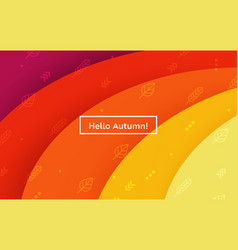hello autumn layout with leaves for web page vector image