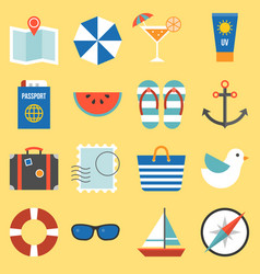 holiday and vacation on sea icon vector image