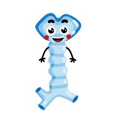 Human oesophagus cute cartoon character vector