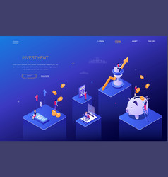 investment concept - colorful isometric web vector image