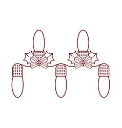 isolated christmas lightbulbs icon vector image