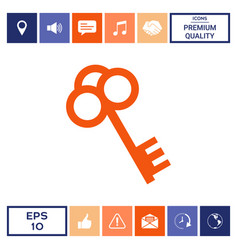 key icon symbol vector image