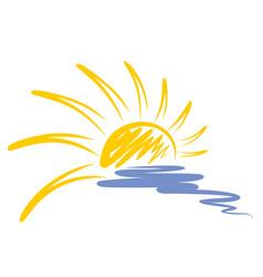 Logo of sun and sea vector
