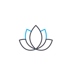 lotus linear icon concept lotus line sign vector image