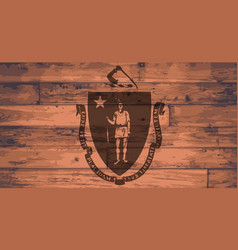 Massachusetts flag brand vector
