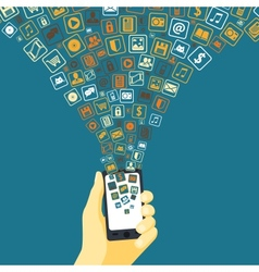 Mobile applications funnel vector image