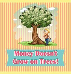 Money on trees idiom vector image
