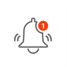 notification icon bell alarm alert vector image