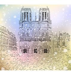 Notre Dame De Paris Sketch vector