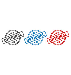 Optional stamp optional round isolated sign vector