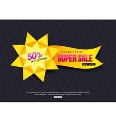 Paper Banner Paper Sale Banner Paper banner vector image