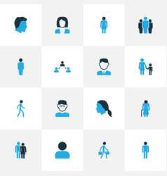 People colorful icons set collection of client vector