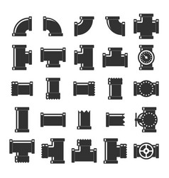 Pipe itting set vector