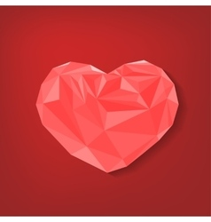 Polygonal heart Background vector