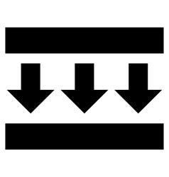 Pressure Down Flat Icon vector image