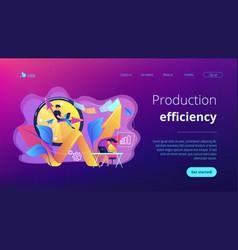 Productivity concept landing page vector