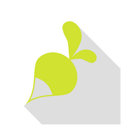 radish simple sign pear icon with flat style vector image