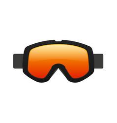 retro goggles flat design vector image