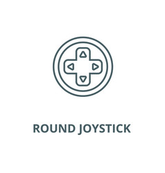 Round joystick line icon linear concept vector