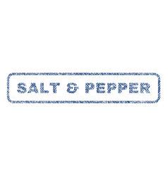 Salt pepper textile stamp vector