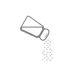 Salt shaker thin lines icon vector