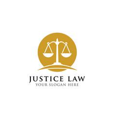 Scales attorney logo design justice law badge vector