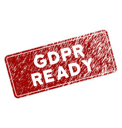 Scratched textured gdpr ready rounded rectangle vector