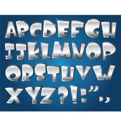 Silver alphabet vector