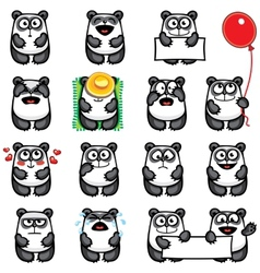 Smiley pandas vector