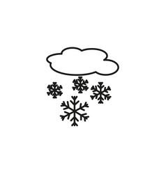 Snowing cloud icon vector