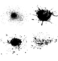 spatters vector image