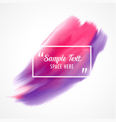 stylish pink and purple watercolor paint vector image