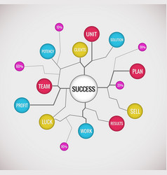 success plan diagram vector image