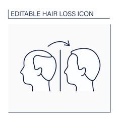 Treatment line icon vector