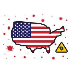 usa united states america in danger corona vector image