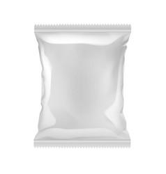 Vertical sealed empty plastic foil bag vector