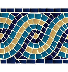 wave mosaic seamless pattern vector image
