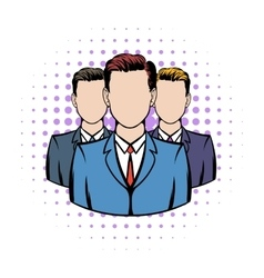 Businessmen comics icon vector image vector image