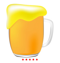 cup beer icon color fill style vector image vector image