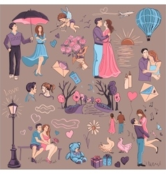 Hand drawn Love Story vector image