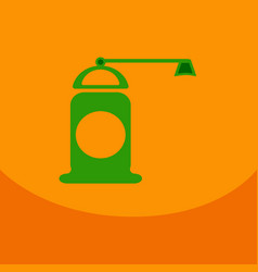 Pepper grinder spices mill silhouette on the color vector