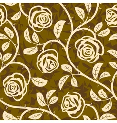rose flowers seamless vector repeat pattern vector image vector image