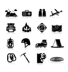 Climbing Icons Black vector image vector image