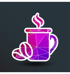 Coffee cup logo design template Cafe shop vector image