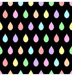 Colorful Pastel Rain Black Background vector image vector image