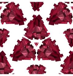 Geometric 3D seamless background vector image vector image