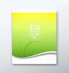Green leaf ecology concept of annual report vector image