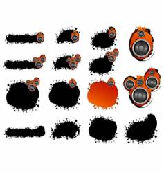 grunge speaker collection vector image