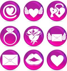 Romantic Icons vector image