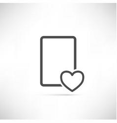 Wish List Icon Heart Empty vector image vector image